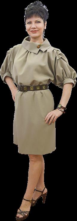 Платье без выкройки из плательного крепа