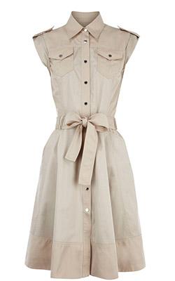 хлопковое платье на пуговицах