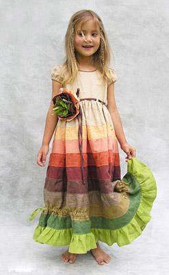 детское льняное платье