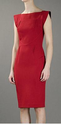 платье из шерсти