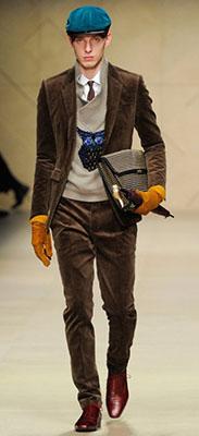 мужской костюм из вельвета
