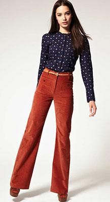 брюки из вельвета