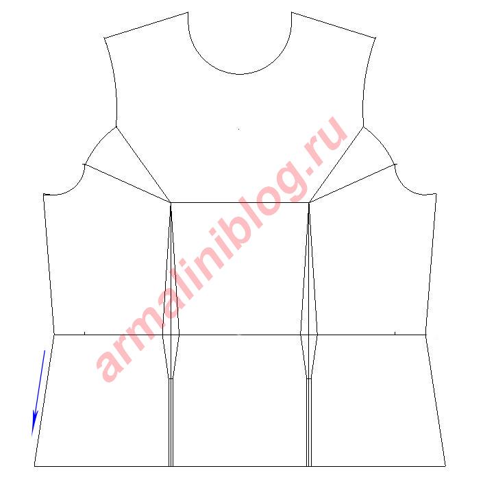 Моделирование блузы рис.1