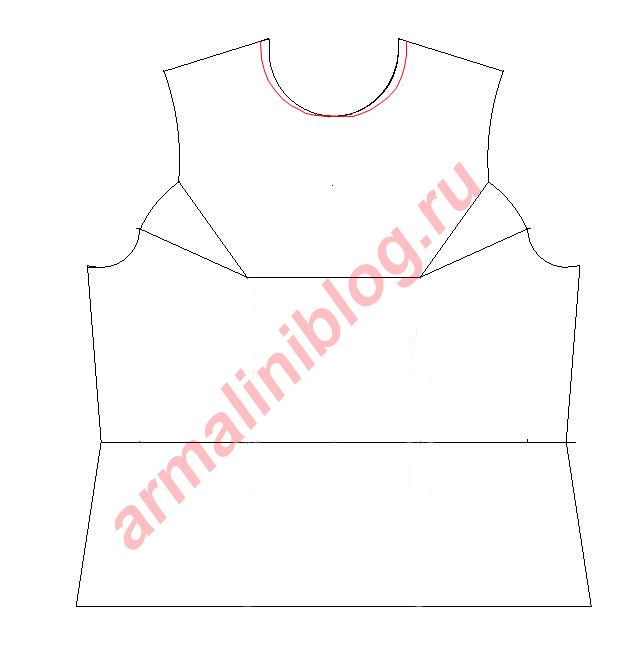 Моделирование блузы рис.2