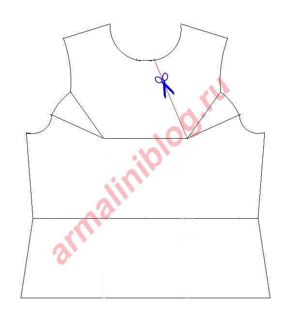 Моделирование блузы рис. 3