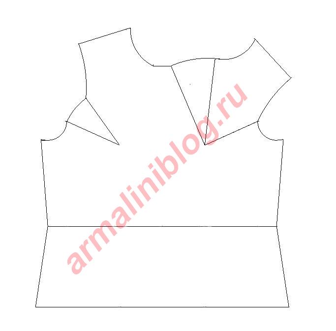 Моделирование блузы рис.4