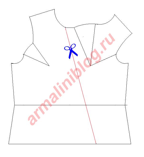 Моделирование блузы рис.5