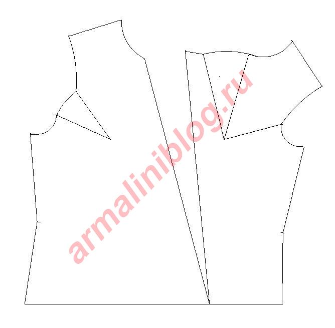 Моделирование блузы рис.6