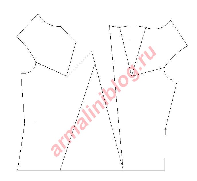 Моделирование блузы рис. 8