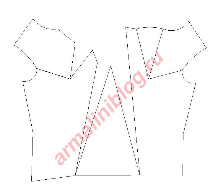 Моделирование блузы рис.9