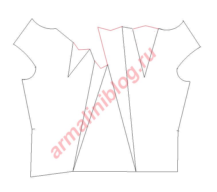 Моделирование блузы рис. 10