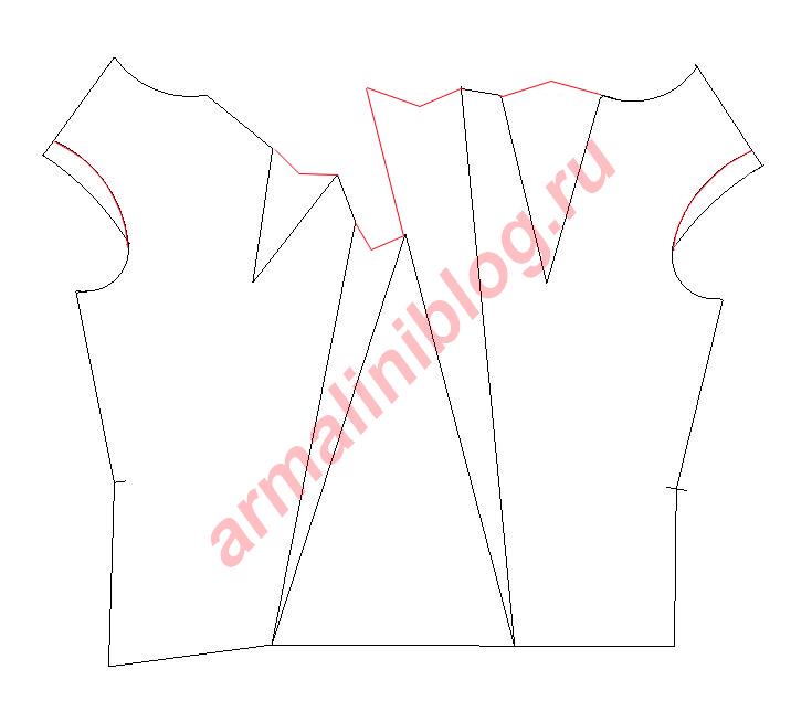 Моделирование блузы рис.11