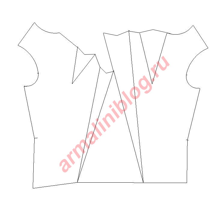 Выкройка блузки в горошек своими руками 23