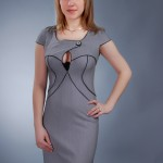 Сукня з декоративним кантом