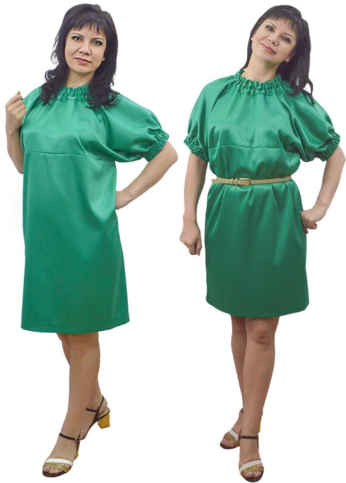 Платье без выкройки из креп-атласа