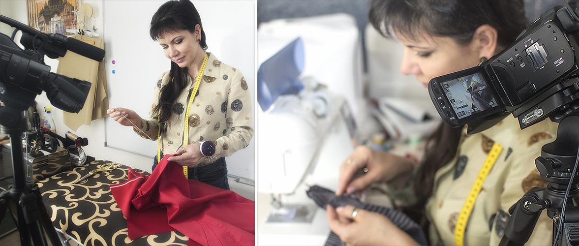 Я зарабатываю шитьем одежды