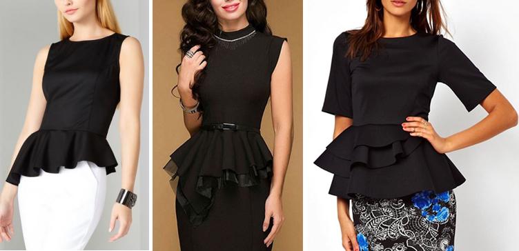 Выкройка баски к юбке или блузке