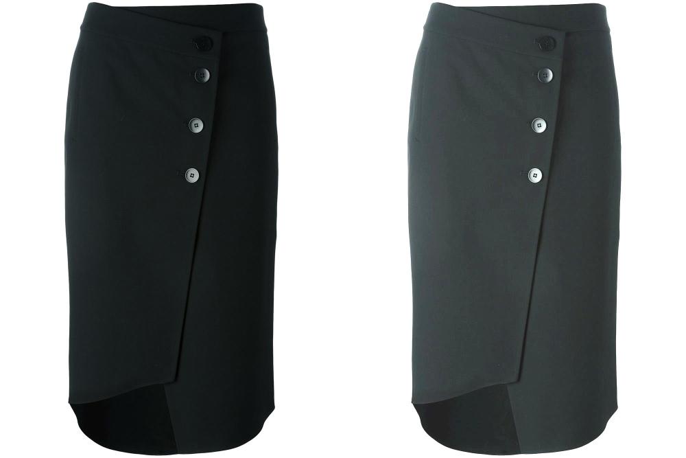 Моделирование асимметричной юбки с запа́хом от TIBI