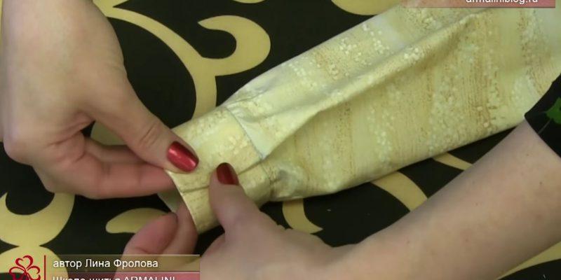 Видео-урок: Обработка манжета без разреза рукава