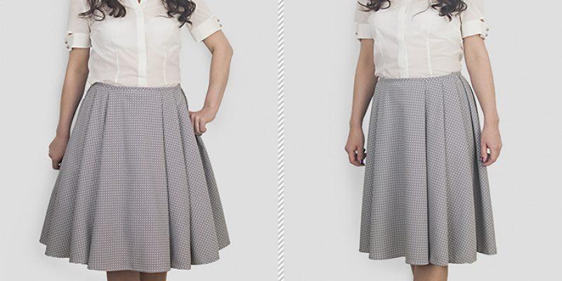 Как сшить юбку полусолнце со складками