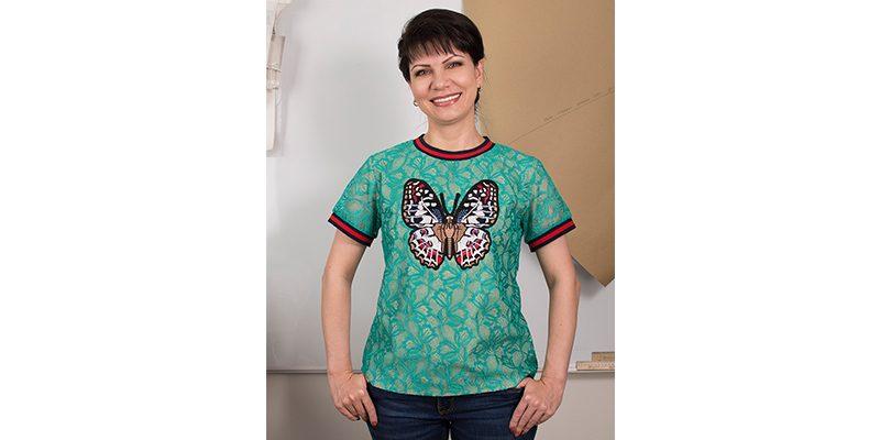 Кружевная блуза в стиле «Гуччи»